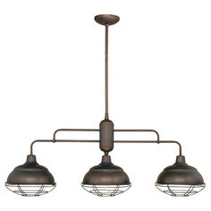 You should see this Neo Industrial 3 Light Kitchen Pendant in Bronze on Daily Sales!