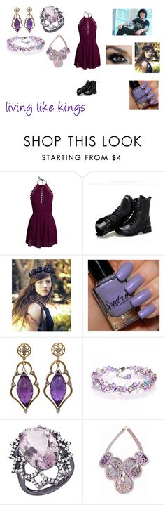 """Living Like Kings by Mitchel Musso"" by themortalinstrumentslover ❤ liked on Polyvore featuring NLY Trend, Sunsteps, Flower Gypsies and Arya Esha"
