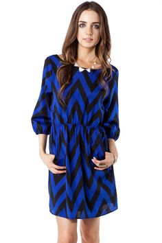 ShopSosie Style : Forever Zig Zag Cinch Dress in Raven. OBSESSED WITH THIS SITE!!