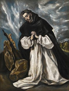El Greco, Saint Dominic in prayer. Sotheby's London Old Master & British Paintings Evening Sale, on July 3 2013 ( est. Beautiful Scenery Paintings, Claude Joseph Vernet, Grand Palais Paris, Dominican Order, Saint Dominique, Baroque Art, Spanish Painters, Russian Art, Old Master