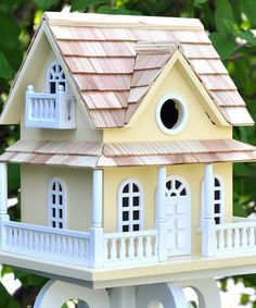 Yellow Cottage Birdhouse