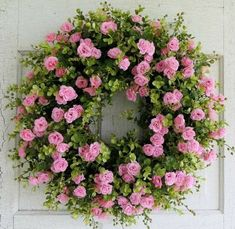 Pink Tea Rose Wreath, Summer Wreath, Eucalyptus Wreath, Gorgeous Front Door Wreath, Pink Rose With a Hint of Peach Summer Door Wreaths, Wreaths For Front Door, Holiday Wreaths, Winter Wreaths, Spring Wreaths, Diy Wreath, Grapevine Wreath, Wreath Ideas, Boxwood Wreath