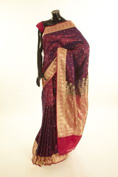 Banarsi- Satin Valkallam- satin saree with blouse