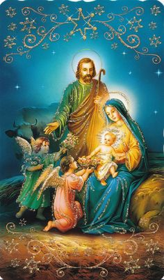 Jesus And Mary Pictures, Mother Mary Images, Pictures Of Jesus Christ, Religious Pictures, Christmas Manger, Christmas Nativity Scene, Christmas Scenes, A Christmas Story, Victorian Christmas