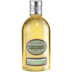 L'Occitane Almond Shower Oil $25 — Transforms into a lavish, softening foam--original and unique in texture--that leaves a satin-like softness all over the body. Rich in almond oil and nourishing lipids. Cleanses gently to impart a delectable perfume.