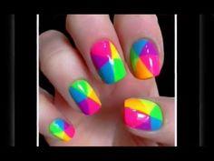 Decoracion de uñas con esmalte sencillas y bonitas - YouTube
