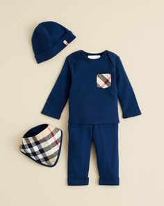 Burberry Infant Boys' Olly Hat, Tee, Pants & Bib Set
