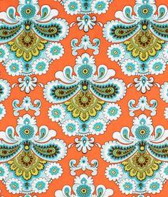 Amy Butler French Wallpaper Orange Fabric - $7.6184 | onlinefabricstore.net #fabricgiveaway