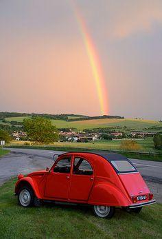 #Citroen 2 CV Under the rainbow...
