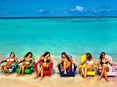 Another Beautiful Day at Cow Wreck Beach.....Thats me in the Blue chair hehe