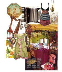 Textile collage....I love the interesting color combinations in this.
