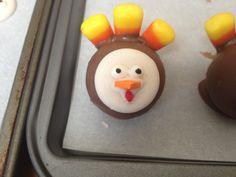 Close up-- turkey cake balls