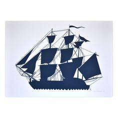 Ship #1 Screen Print design inspiration on Fab.