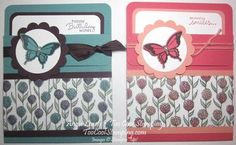 Sheer Perfection Pocket Card - sheer perfection, vellum, petite pairs, nature's perfection, dry embossing, stampin' up  Details at www.toocoolstamping.com