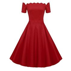 Looking for ACEVOG Women's Wave Point Style Vintage Swing Party Off Shoulder Dress ? Check out our picks for the ACEVOG Women's Wave Point Style Vintage Swing Party Off Shoulder Dress from the popular stores - all in one. Vintage Red Dress, Retro Dress, Vintage Dresses, Elegant Party Dresses, Wedding Dresses, Thing 1, Plaid Dress, Dress Red, Dress Black