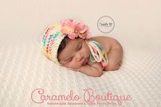RTS Speckled Newborn Whimsical Bonnet-Baby от CarameloBoutique