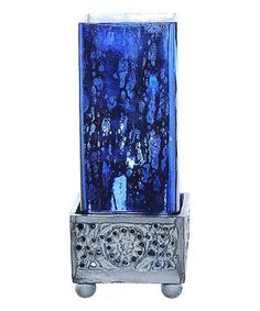 Look what I found on #zulily! 8.8'' Blue Square Mercury Glass Uplight Accent Lamp #zulilyfinds