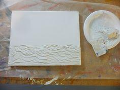 that artist woman: Nautical Canvas Diy Canvas Art, Diy Wall Art, Diy Art, Nautical Canvas, Cuadros Diy, Plaster Art, Art Journal Techniques, Texture Art, Abstract Wall Art