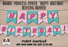 Barbie Princess Power-inspired Happy Birthday by TwoBearsDesigns