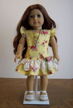 American Girl Doll ClothesDress and Necklace 18 by catsdesigns, $22.00