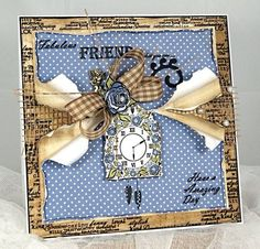 Like the torn papers Shabby Chic Cards, Torn Paper, Projects To Try, Crafty Projects, Birthday Cards, Card Making, Anna, Frame, Floral