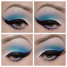 #mbacosmetics loose eyeshadow matte white, Turquoise, Delirious, blue carrauco, #sephora long lasting precision eyeliner #bhcosmetics flawless brow kit, #mbacosmetics whispy-flair lashes