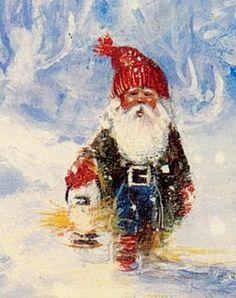 Relatert bilde Norwegian Christmas, Gnome Garden, Faeries, Troll, Scandinavian, Elves, Painting, Fictional Characters, Google Search
