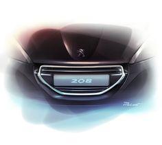 Peugeot 208 - Front Grille Design Sketch
