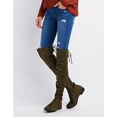 Hotkiss Tie-Back Over-The-Knee Flat Boots