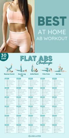 Flat Abs 30 Day Workout Challenge!