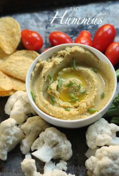 Hummus is SO easy to make and it's so healthy and good for you!