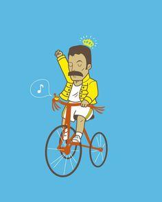 sometimes I do feel like Freddy Mercury when I ride a bike and sing at the same…
