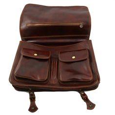 Ancona Leren messenger tas - zakentas - Large - TL10025 - Tuscany Leather