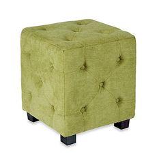 angelo:HOME Tufted Cube Velvet Ottoman