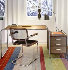 The novelties by Thonet at @imm cologne - Warm and Comfortable: Classic Designs in 'Pure Materials' #office #interiors #thonet