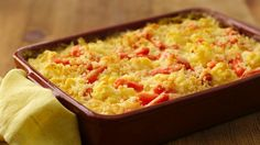 Top carrots and Green Giant® cauliflower with Progresso® bread crumbs to make this cheesy side dish - perfect for Thanksgiving.