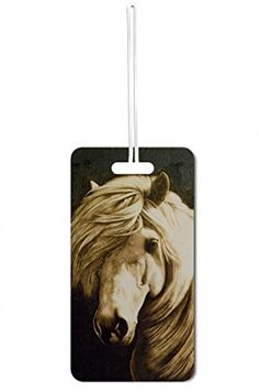 Luggage Tags Collections   Vintage Style Horse Lea Elliot Set of 8 Luggage Tags with Customizable Back *** Check out this great product. Note:It is Affiliate Link to Amazon.