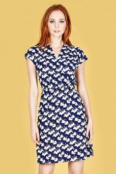 Louche+Zinnie+Swan+Dress