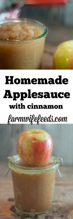 Super easy homemade Super easy homemade applesauce with cinnamon-make a little or make a lot great for canning! Best Grill Recipes, Side Recipes, Apple Recipes, Fall Recipes, Crockpot Recipes, Snack Recipes, Dinner Recipes, Amish Recipes, Snacks