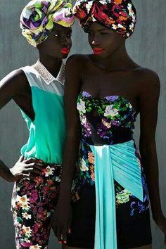 Stunning color play and fabrics.