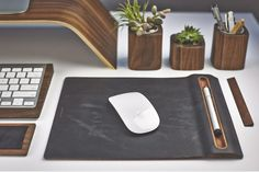 GROVEMADE LEATHER MOUSE PAD