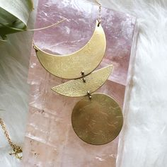 Nothing short of a statement with this Etched Stages necklace by Tiny Anvil 🌚🌝 Www.facetsofearth.com  #Regram via @facetsofearth Spiritual Development, Personal Development, Crystal Pendant, Crystal Jewelry, Full Moon Ritual, Lunar Phase, Bone Jewelry, Spirit Science, Zodiac Symbols