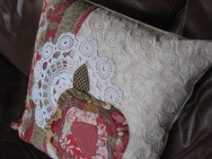 Pillow 2 French roses. For sale at Tesori in Williamsville, NY to raise money for Mitochondrial research