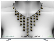 Women necklace WN - 21 Full Permission AO UV included You can not sell or transfer the right to resell or transfer. 21st, Beaded Necklace, Diamond, Fantasy, Jewelry, Women, Beaded Collar, Pearl Necklace, Jewels