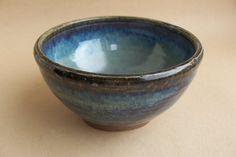 Hand thrown breakfast bowls made from buff stoneware clay finished in a gorgeous blue beige glaze high fired to 1300c.    Food, oven, and