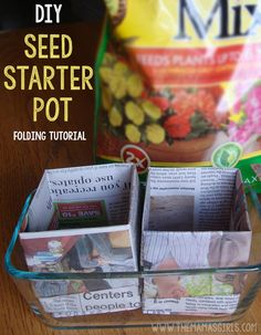 Try this easy method for starting seeds indoors. Learn how to fold your own seed starting cups out of newspaper. Get 3 of our best seed starting tips.