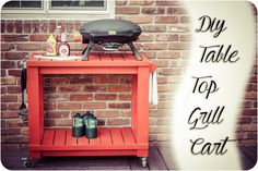 Table Top Grill Cart