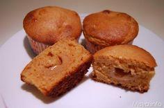Muffin al dulce de leche. Ricetta dei morbidi muffin con un ripieno di dulce de leche, la crema di latte tipica dell'argentina