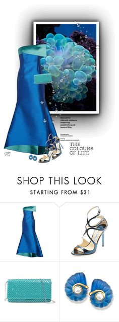 """Colours of the Sea"" by s-p-j ❤ liked on Polyvore featuring NOIR Sachin + Babi and Jimmy Choo"