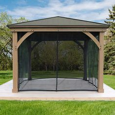 The pergola kits are the easiest and quickest way to build a garden pergola. There are lots of do it yourself pergola kits available to you so that anyone could easily put them together to construct a new structure at their backyard. Backyard Pavilion, Backyard Gazebo, Backyard Patio Designs, Backyard Landscaping, Grill Gazebo, Pergola Plans, Diy Pergola, Pergola Ideas, Railing Ideas